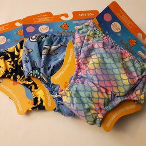 LOT of reusable swim diapers Octopus Shark Mermaid
